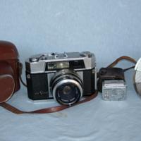Vintage Aires Viscount Camera, Sekonic Light Meter, Lyon Fan / Fold Out Flash