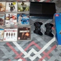 Ps 3 2 remotes an 10 games