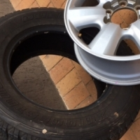 Fortuner Rims & 5 Tyres