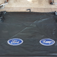 Ford Ranger 2012 on Bull bar, Tonneau Cover with aluminium frame and side steps