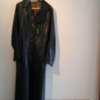 Leather trench coat -genuine leather