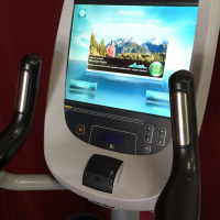 Precor UBK 885 Upright Bike with P80 Touch Screen Used RECONDITIONED