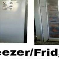 Double door fridge and freezer