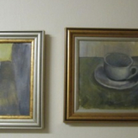 Acrylic paint Cups Paintings