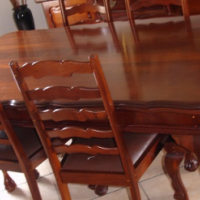 Imbuia dining set with ball and claw design