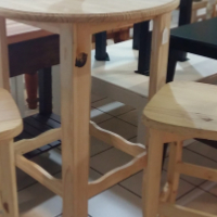 Pine Pub Table - Raw