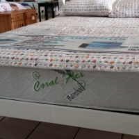 Pine Amanda Double bed (1370) - White