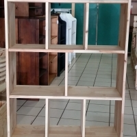 900 mm Pine Room Divider - Raw