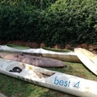 Kayaks & spider surfboard