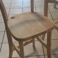 600mm High Cafe Bar Chair - Raw