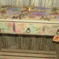 Table New. Mix media colorful with  3 Drawers