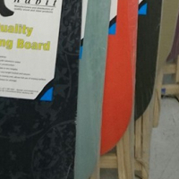 assorted ironing boards