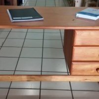 3 Drawer Pine Desk - Oregon