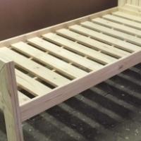 Headboard Chunky Farmhouse series Single bed combo - Raw