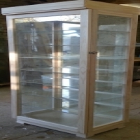 Character Display Cabinet With Glass Shelves And LED Lights Dust Proof