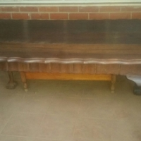 Imbuia ball and claw dining table