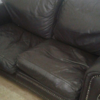 3 double leather couches worth R40,000