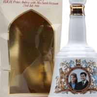 Royalty Bells Whiskey collectable  Prince Andrew & Fergi's wedding 1985