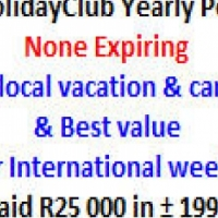 20 Holiday Club Life points