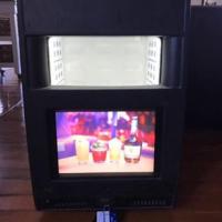 """cool mini display fridge with 12 """"screen"""