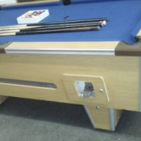 Coin (r5) Operated pool table with 4cues and keys for sale