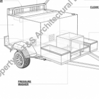 CONCEPT DESIGN WHEELIE BIN CLEANING TRAILER, DRAUGHTING SERVICES, PLANS