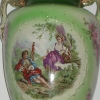 A pair of tall elegant vases