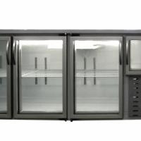3.5 Door Underbar Fridge - Glass Door (2400x750x900mm)