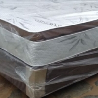 New Pillowtop Restonic Queen Size Bed Set