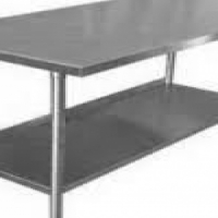 S/Steel Table - Plain Top Table - 650mm