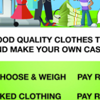 Secondhand clothing in bulk from R10 perkg