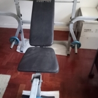 HOME EXERCISER WITH WEIGHTS