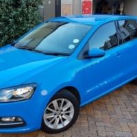 2014 Volkswagen Polo 1.2 TSI Comfortline Blue with 51000km