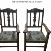 Pair of Oak Chairs For Sale at Springbok Furnishers.