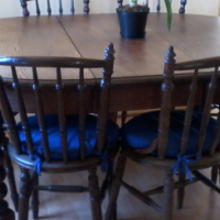 Antique dining chairs, R3000 (neg).
