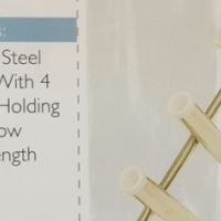 STAINLESS STEEL ROD HOLDER WITH FOUR HOLDING TUBES IN A ROW R1499.99