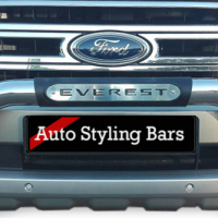 Ford Everest 2016+ PDC Nudge Bar Black & Stainless Steel