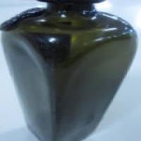 Antique  cobalt green ink well bottle