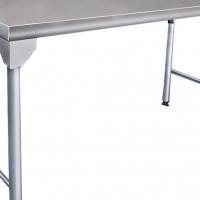 S/ Steel Table - Splash Back Table 900mm