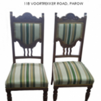 Set of 6 satin wood Edwardian High Back Chairs For Sale at Springbok Furnishers.