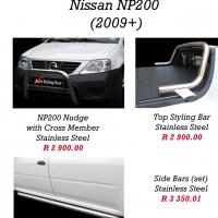 Nissan NP200 Nudge Bars, Rollbars, Steps, Towbars etc.