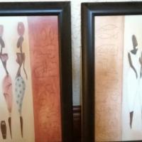 Set of two framed prints