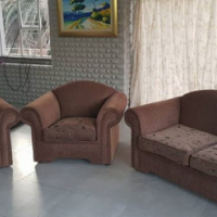 Brown colored lounge suite