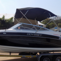 odyssey 650 on trailer 300 hp mercury verado supercharged 4 stroke 54,1 hours