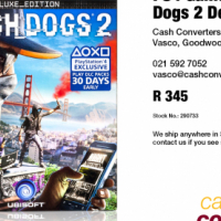 PS4 Game: Watch Dogs 2 Deluxe Edition