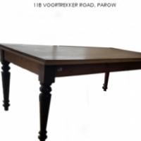 Cedar Wood & Stink Wood rectangle Table with Turn Leg at Springbok Furnishers.
