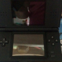 Nintendo DS Lite + 8 Games + Leather cover and cartridge holder