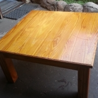 Solid Pine Coffee Table (890x890x465)