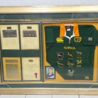 SOUTH AFRICAN (SPRINGBOK) RUGBY TEAM HISTORY (FRAMED)