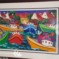 Harbor painting for sale